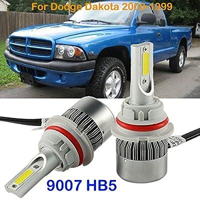 2PCS 9007 HB5 LED Headlight Kit Bulb For Dodge Dakota 2000-1999 Hi/Lo Beam 6000K
