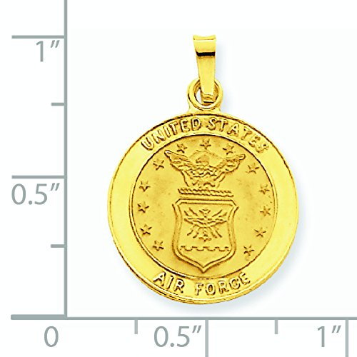 US Air Force Insignia 14 Carats Pendentif Disque-Dimensions :  24,5 x 17,5 mm-JewelryWeb