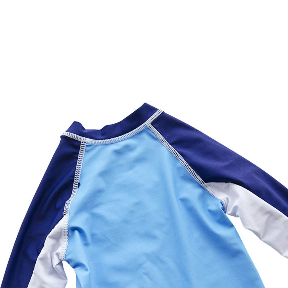 Toddler Little Boys Long Sleeve Rash Guards Swimwear Kids 2pc Shark Bathing Suit Swimsuit Set UPF 50+