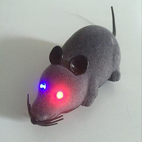 Control remoto inalámbrico LED RC de ratón de la rata del juguete para perro del gato de la novedad para mascotas Regalo divertido Gray: Amazon.es: Juguetes ...