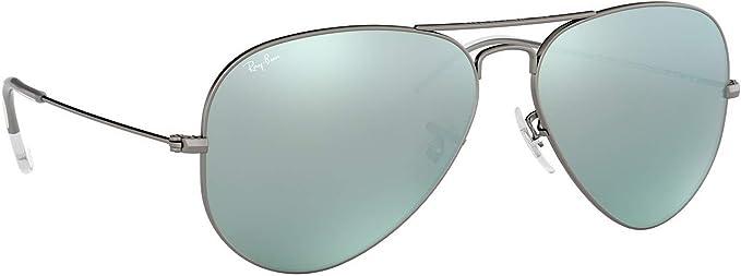 ray ban aviator matte silver