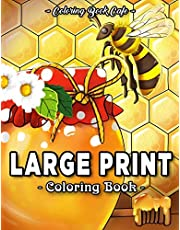 Large Print Coloring Book: An Adult Coloring Book Featuring Fun, Easy and Relaxing Designs