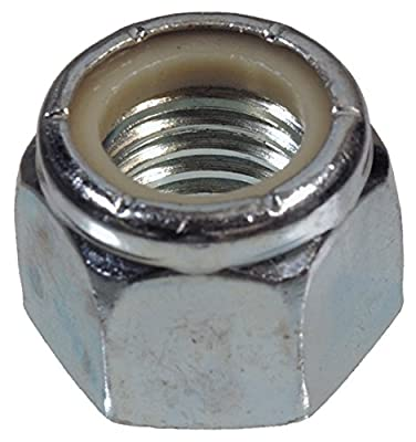 The Hillman Group 180156 Nylon Insert Lock Nut, 7/16-Inch by 14-Inch, 50-Pack