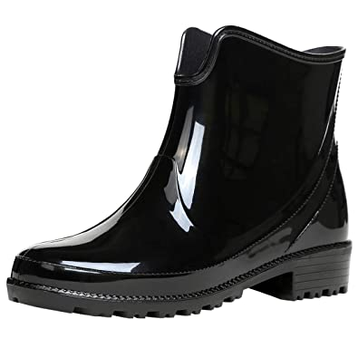 a95a2ee3ea3cc Vitalo Womens Wellies Ankle Rubber Rain Waterproof Wellington Boots Size  5.5 B(M) US