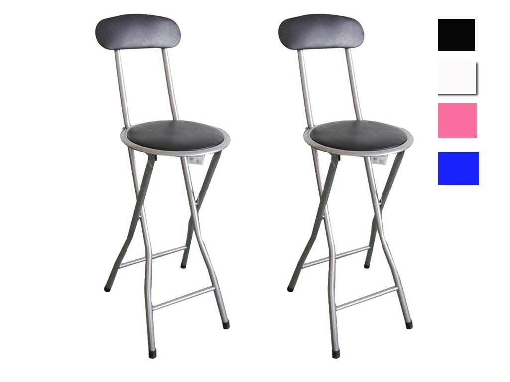 Sgabelli pieghevoli con sedile imbottito e schienale set di