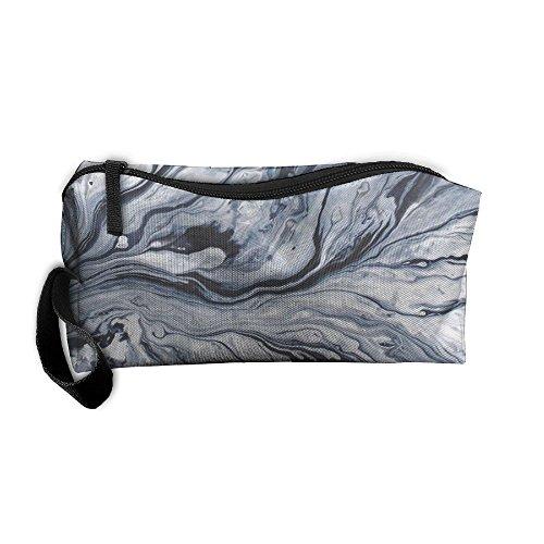 Marble Pattern Zipper Receiving Package Makeup Bag Pencil Pe