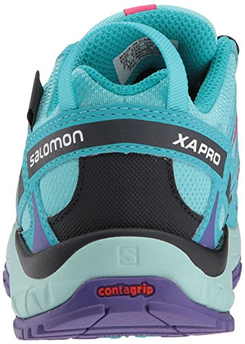 Salomon XA Pro 3D CSWP J, Zapatillas de Running Unisex Niños Azul (Blue Curacao/Eggshell Blue/Purple O 000)