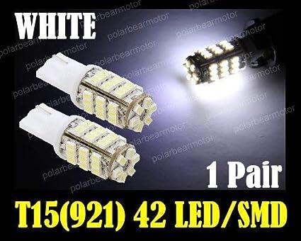 amazon com ez motoring 2pcs 42 smd t15 12v led replacement light
