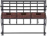 RX-789 Craft Storage Rack Harper Blvd Burnet Espresso Wall Mount