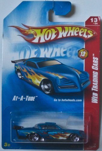 - Hot Wheels 2008-089 At-A-Tude BLUE w/Flames Web Trading 1:64 Scale