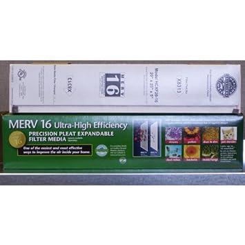 lennox carbon coated x6672 healthy climate merv 16 filter. lennox x8313 - merv 16 expandable filter 20\u0026quot; x 25\u0026quot; 5\u0026quot; carbon coated x6672 healthy climate merv