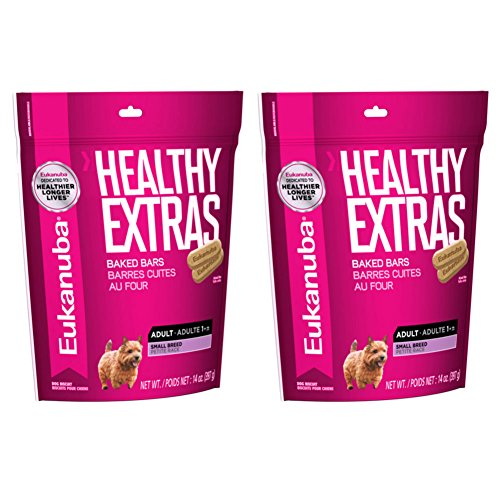 Eukanuba Healthy Extras Adult Small Breed Baked Bar Treats for Dogs - 14 Oz. (2 Pack)