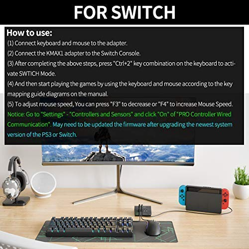 Amazon.com: IFYOO KMAX1 Keyboard and Mouse Adapter Converter for PS4 / Xbox One/Switch / PS3 - Compatible with PUBG, H1Z1 and Other Shooting Games: ...