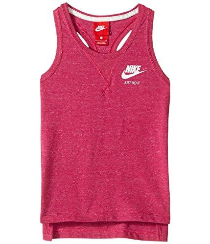 Nike Girl's Gym Vintage Tank Sport Fuchsia/Sail Size Large