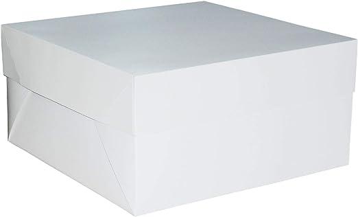 Packit – Cajas para Tarta de Boda o de cumpleaños, Color Blanco (2 Unidades de 20 x 20 x 15 cm): Amazon.es: Hogar