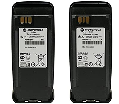 Motorola Original OEM PMNN4077C High Capacity 2200 mAh 2 Pack Battery For XPR6100 XPR6300 XPR6350 PR6380 XPR6500 XPR6550 IMPRES Cheap replaces PMNN4065 PMNN4066A PMNN4077 by Motorola