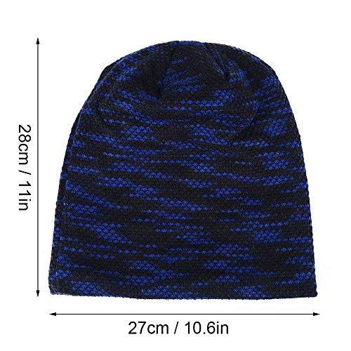 Otoño Colores de Moda e y Los de de y Lana novedosos Cálidos Los Son Sombreros Opcionales Invierno Están Fríos Azul 3 Son CwtZCqIx