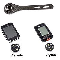 Support de Guidon intégré pour vélo de Route Garmin Edge 200, 500, 510, 800, 810 et 1000/Bryton GPS et Support d'ordinateur, Noir Mat/Brillant