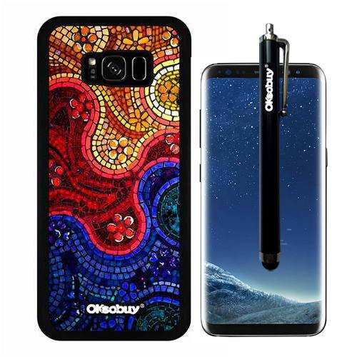 Persian Strawberry (Galaxy S8 Plus Case, Rainbow Colorful Persian Glaze Case, OkSoBuy Ultra Thin Soft Silicone Case for Samsung Galaxy S8 Plus - Rainbow Colorful Persian Glaze)