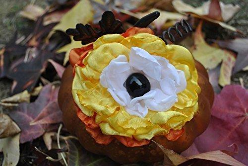 Candy Corn Flower Pet Collar Accessory