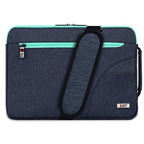 MagiDeal Laptop Aktentasche Schultertaschen Notebook Laptop Aufbewahrungstasche Wasserabweisend und stoßfest Tragetasche für 11,6 MacBook Air / Pro / Retina - Orange Blau