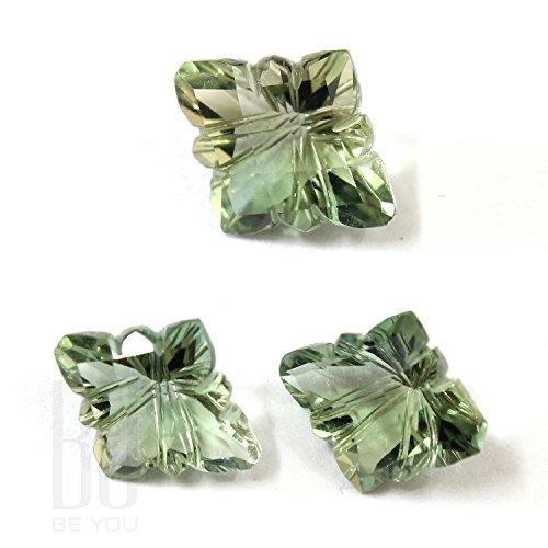 Be You Light Green Colour Glass Fancy Shape 9.95cts 3 pcs set loose - Glasses 9.95