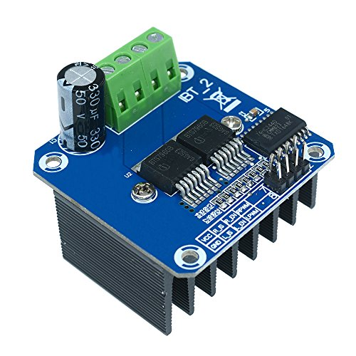 Aideepen Double BTS7960B DC 43A Stepper Motor Driver Module H-Bridge PWM Driving Board for Arduino Smart Car by Aideepen
