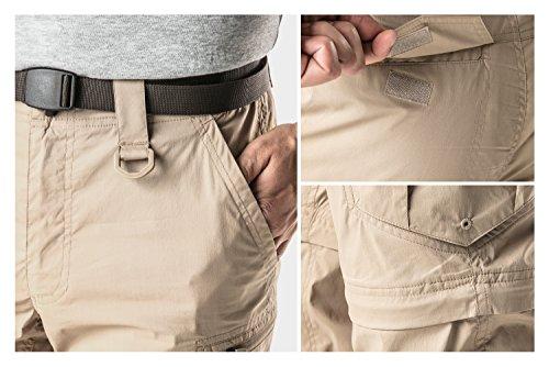 CQR CQ-TXP402-GRN_32W/30L Men's Convertible Pants Zipp Off Stretch Durable UPF 50+ Quick Dry Cargo Shorts Trousers TXP402 by CQR (Image #8)