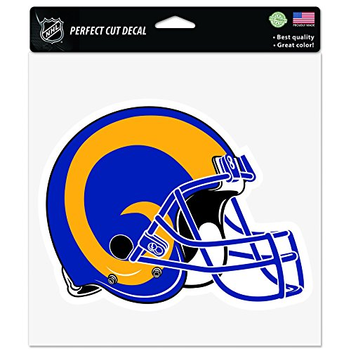 NFL Los Angeles Rams Retro Perfect Cut Color Decal, 8'' x 8'', Multicolor by WinCraft