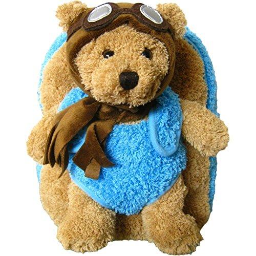 Aviator Bear - Kreative Kids Unisex Brown Aviator Pilot Bear Plush Backpack