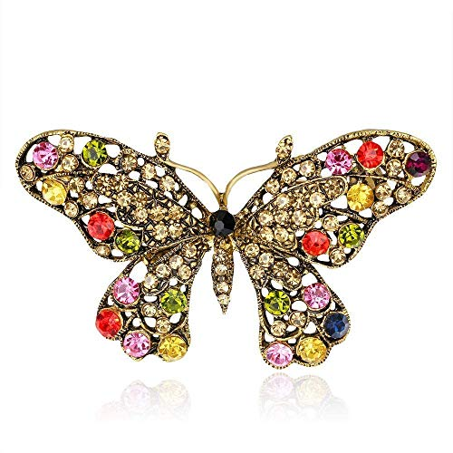 Creative Brooch Pin Brooch European style brooch Insect collar accessories set diamond butterfly small brooch 2 pieces Badge Pin Lapel Pin