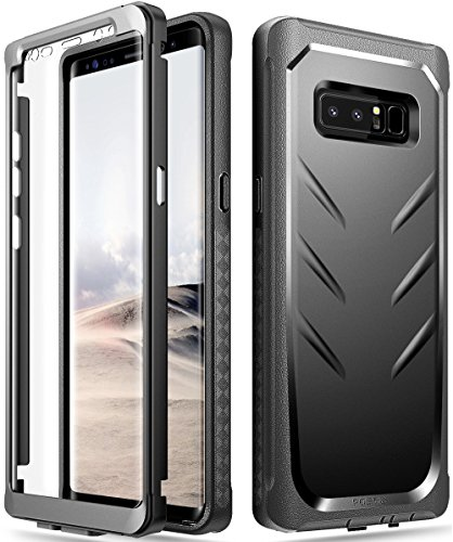 Poetic Galaxy Note 8 Case, Revolution [360 Degree Protection] Full-Body Rugged Heavy Duty Case with [Built-in-Screen Protector] for Samsung Galaxy Note 8 (2017) Black