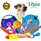 BUIBIIU Dog Rope Toys Dog Teething Toys Best Chew Toys for Teething Puppy 12 pcs Gift Set