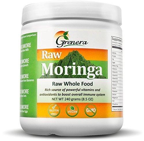 Grenera Certified Organic Raw Moringa Powder, 240 Grams by Grenera