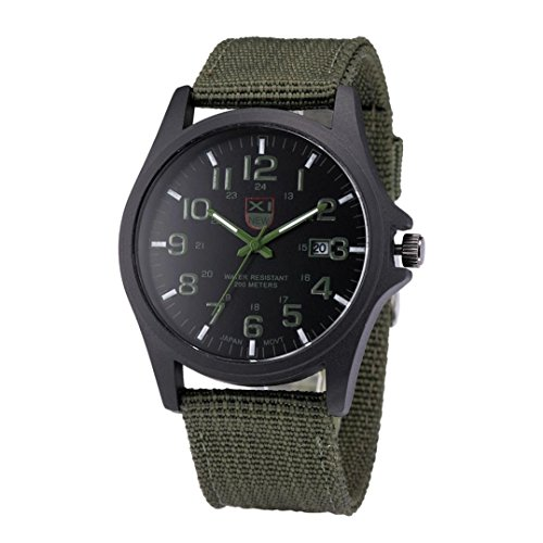 Rumas Mens Date Stainless Steel Military Sports Analog Quartz Army Wrist Watch (Acrylic Date Watch)