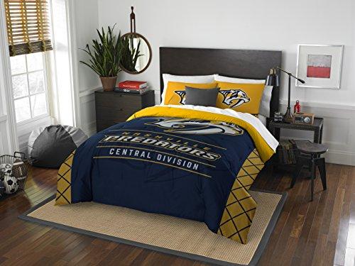 The Northwest Company Officially Licensed NHL Nashville Predators Draft Full/Queen Comforter and 2 Sham Set