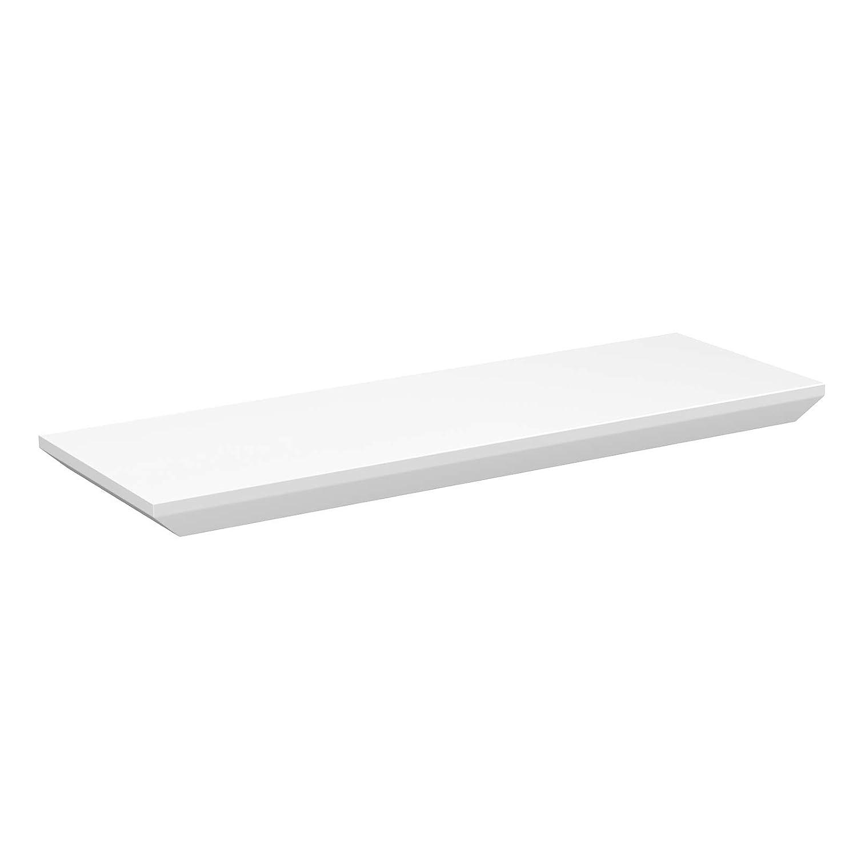 Blanco LWS13WT M/áxima Capacidad de 15 kg para Dormitorio Estudio Sal/ón Estante Flotante Pasillo de Cocina SONGMICS Estanter/ía de Pared 60 x 20 x 3,2 cm Estante Decorativo