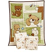 Little Bedding by NoJo - Dreamland Teddy 3pc Portable Bedding Set Collection - Value Bundle