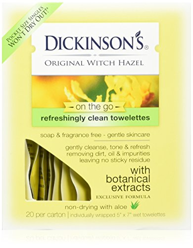(Dickinson's Original Witch Hazel Refreshingly Clean Towelettes 20 Each (Pack of 3))
