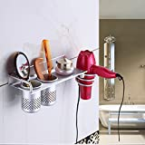 Hair Dryer Drier Holder Organizer Comb Brush Curling Iron Straight Iron Holder Counter Space Saver for Bathroom Bedroom