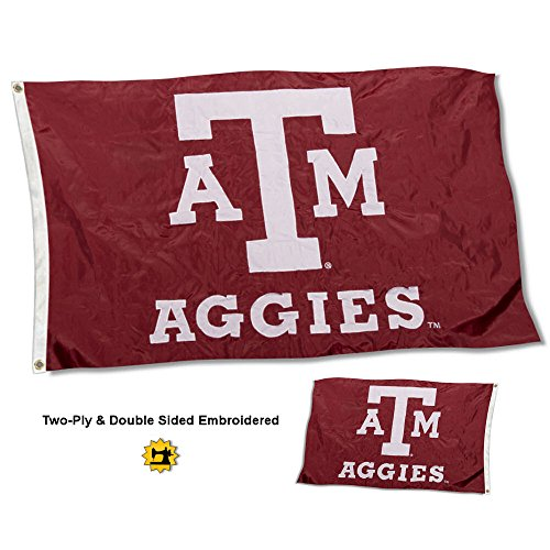 College Flags and Banners Co. Texas A&M Aggies Double Sided Nylon Embroidered Flag