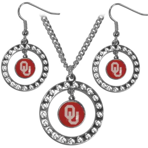 NCAA Oklahoma Sooners Rhinestone Jewelry Set