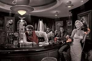 Empire 377067 - Póster de James Dean, Humphrey Bogart, Elvis Presley y Marilyn Monroe (91,5 x 61 cm)