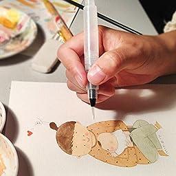 Cosmos ® 3 PCS Different Size Water Brush Watercolor Pens Art Paint Brush (12cm Length)