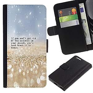 Planetar® Modelo colorido cuero carpeta tirón caso cubierta piel Holster Funda protección Para Apple (5.5 inches!!!) iPhone 6+ Plus / 6S+ Plus ( Esqueleto Closet Danza Cita divertida )