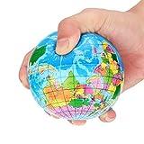 Earth Squishy Toys REYO Stress Relief World Map Foam Ball Atlas Globe Palm Ball Planet Earth Ball Christmas Gifts (blue, 7.6cm)