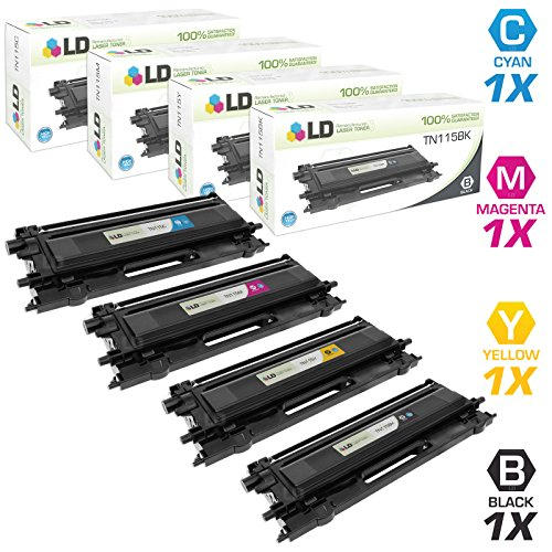 (LD Remanufactured Toner Cartridge Replacement for Brother TN115 High Yield (Black, Cyan, Magenta, Yellow, 4-Pack))