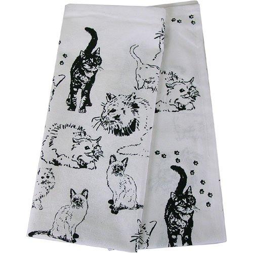 c661aa55ecd9d Amazon.com: Crazy Cats Print Novelty Tea Kitchen Towels - Set of 2 ...
