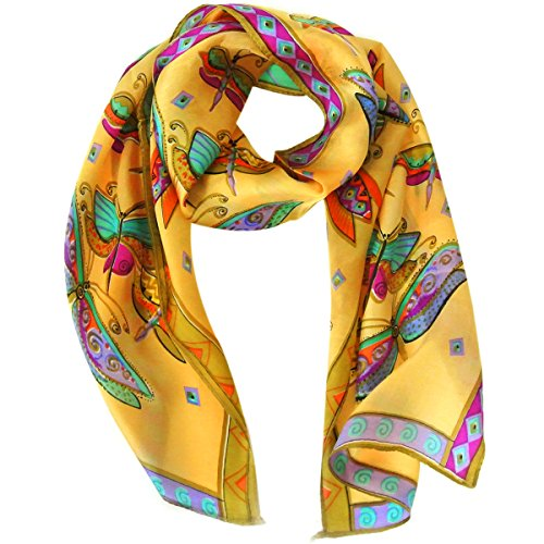 Wrapables Vibrant 100% Silk Long Scarf 51