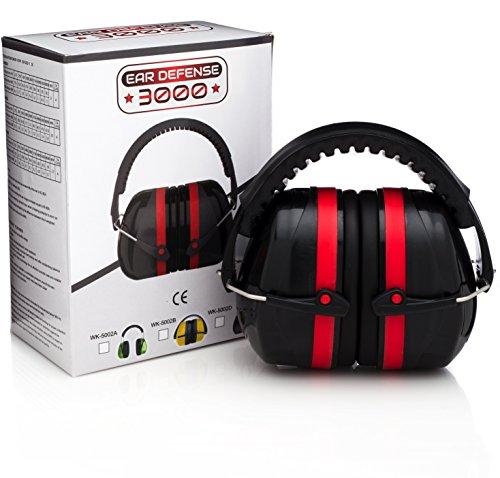 Ear Defense 3000 EN352-1 Safety Ear Muffs, Red